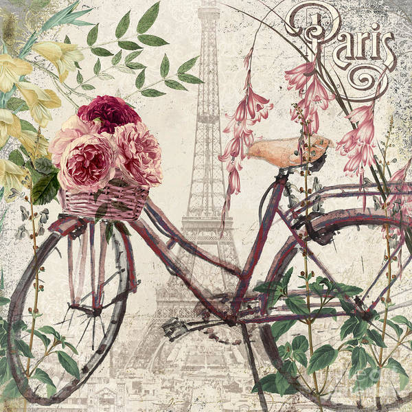 Wall Art - Painting - Riding Through Paris by Mindy Sommers