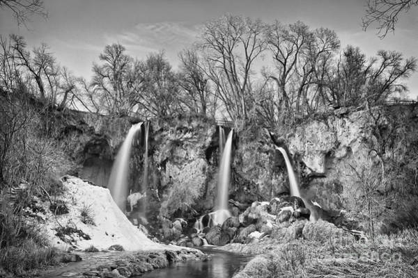 Wall Art - Photograph - Rifle Falls In Black And White by Priscilla Burgers