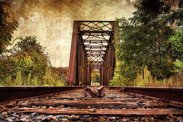 Railroad Tie Wall Art - Photograph - Right Down The Center by Cindi Ressler