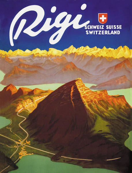 Peak Digital Art - Rigi Mountain by Long Shot