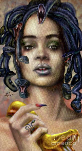 Painting - Rihanna Is Medusa Series 1 by Reggie Duffie