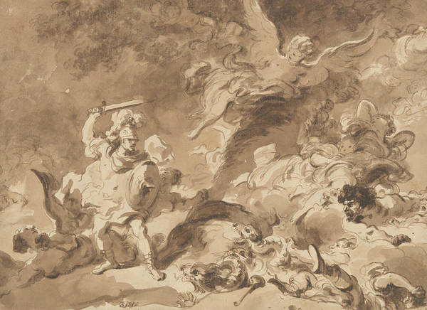 Drawing - Rinaldo In The Enchanted Forest by Jean-Honore Fragonard