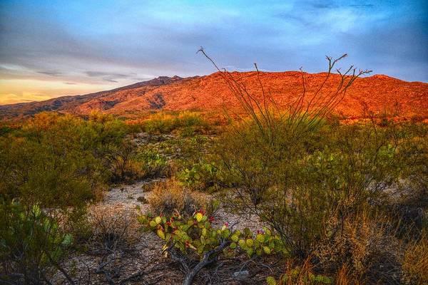 Photograph - Rincon Mountains At Sunset, Tucson, Arizona by Chance Kafka
