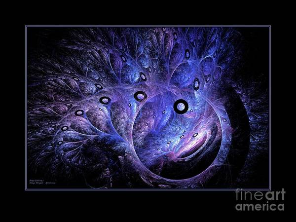 Digital Art - Ring Galaxy Black Border by Doug Morgan