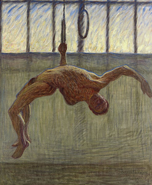 Wall Art - Painting - Ring Gymnast, 1911 by Eugene Jansson