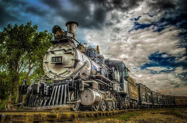 Railroad Wall Art - Photograph - Rio Grande Engine #318 by G Wigler
