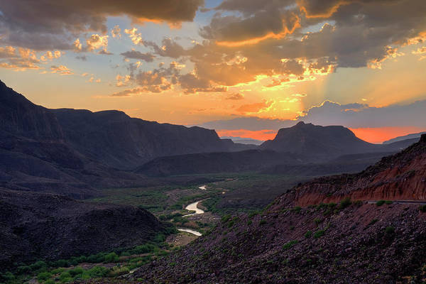 Photograph - Rio Grande Sunset At Big Hill  by Harriet Feagin