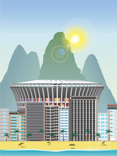 Rio Landmark Art Print by Nikola Knezevic