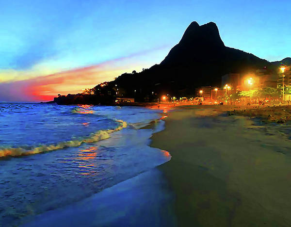 Photograph - Rio Two Brotherssunset by Roger Bester
