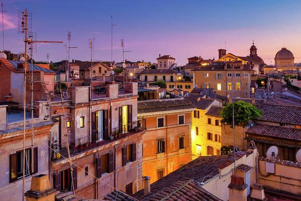 Photograph - Rione Pigna's Rooftops by Fabrizio Troiani