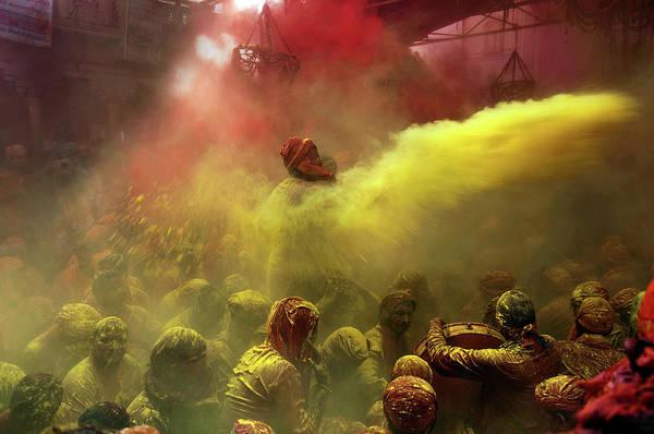 Holi Photograph - Riot Of Color by Suman Das