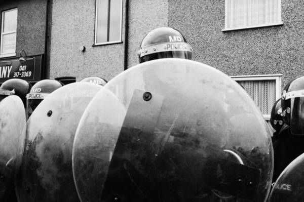 Police Force Photograph - Riot Police In Welling by Steve Eason