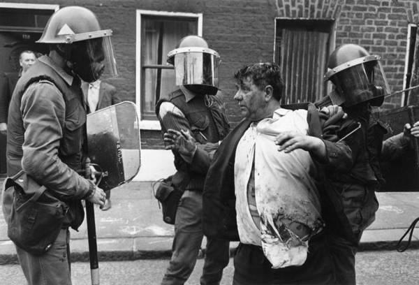 Restrain Photograph - Riot Squad by Malcolm Stroud