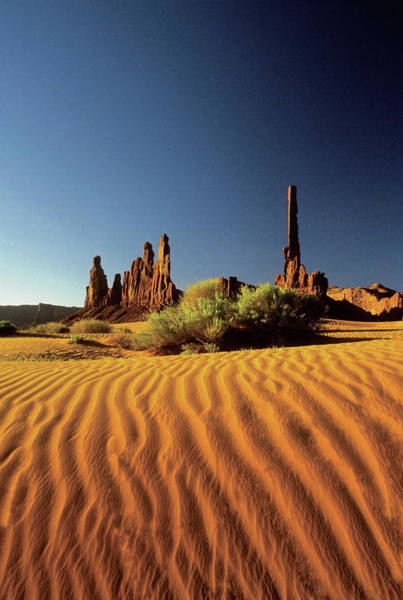 Sand Photograph - Ripples In The Sand, Monument Valley by Medioimages/photodisc