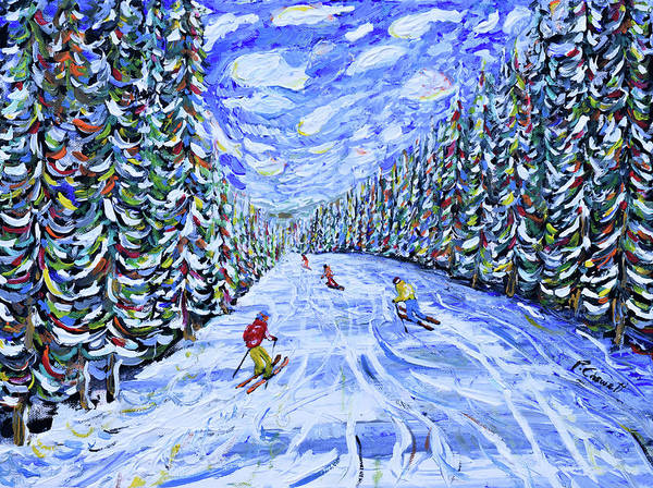 Painting - Ripsaw Beaver Creek Skiing Print by Pete Caswell
