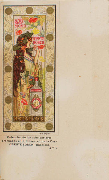 Mono Painting - Riquer I Ynglada  Alexandre De  Anis Del Mono 1898 by National Art Museum of Catalonia
