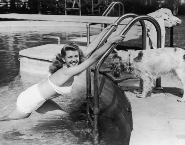 Spaniel Photograph - Ritas Pool by Hulton Archive