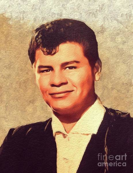 Wall Art - Painting - Ritchie Valens, Music Legend by John Springfield