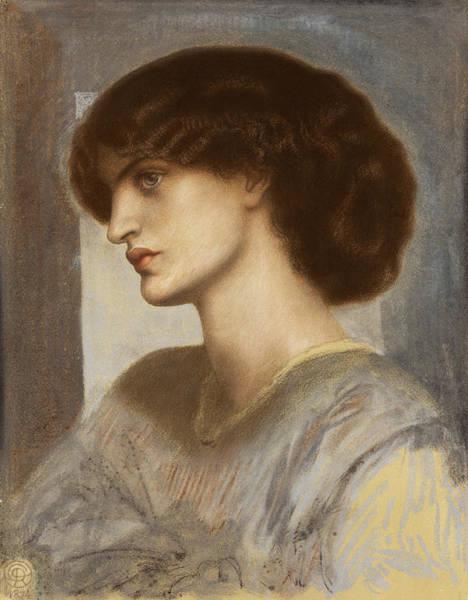 Wall Art - Painting - Portrait Of Jane Morris by Dante Gabriele Rossetti