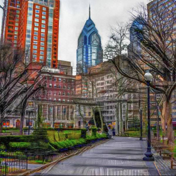 Rittenhouse Square Wall Art - Photograph - Rittenhouse Square Rendoring by Bill Cannon