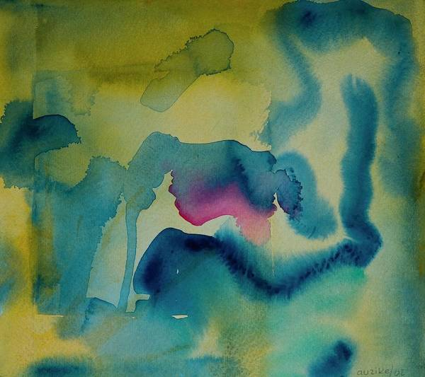Inferno Painting - Ritual Series, 2002 Watercolor On Paper by Ignacio Auzike