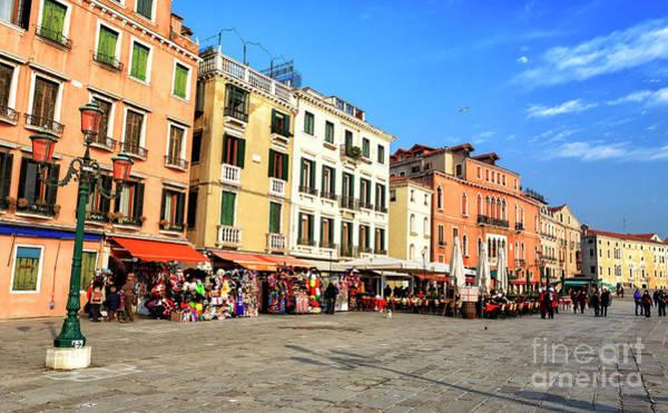 Photograph - Riva Degli Schiavoni In Venice by John Rizzuto