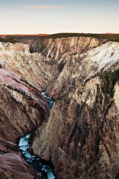 Yellowstone Canyon Photograph - River And Canyon by Bob Stefko