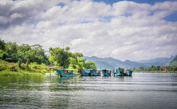 Photograph - River Boats Phong Nha by Gary Gillette