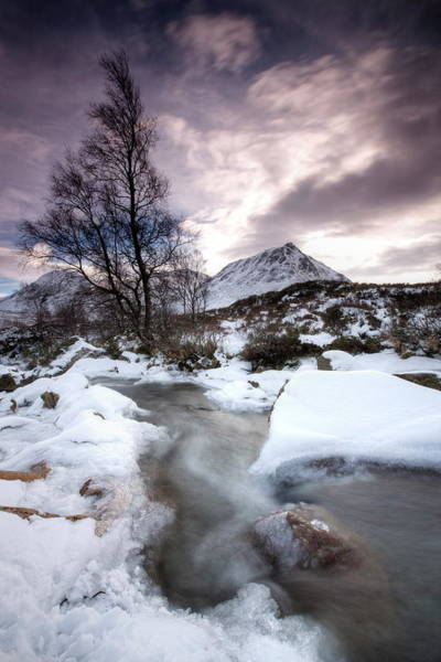 Moor Photograph - River Coupall On A Snowy Winters Day by Lee Frost / Robertharding