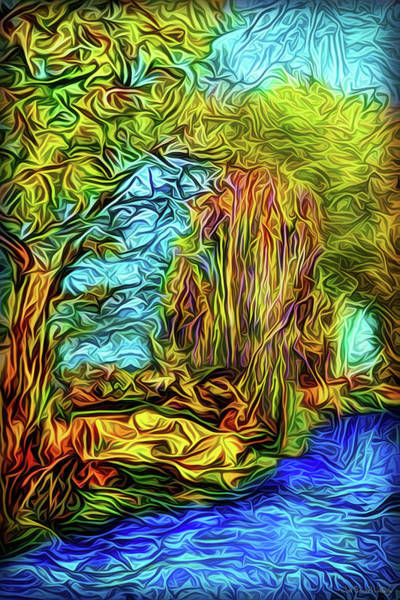 Digital Art - River Enchantment Flow by Joel Bruce Wallach
