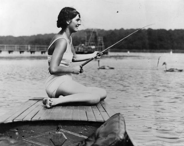 Sport Fishing Photograph - River Fishing by Hulton Archive