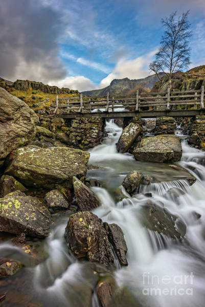 Wall Art - Photograph - River Footbridge Snowdonia by Adrian Evans