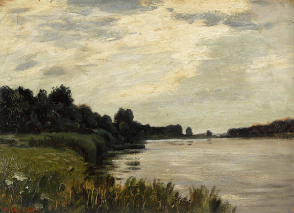 Wall Art - Painting - River Landscape by Hans am Ende