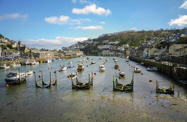 Wall Art - Photograph - River Looe Harbour South Cornwall by Richard Brookes