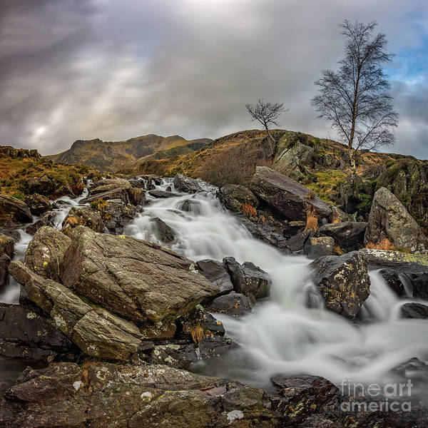 Wall Art - Photograph - River Mountain Snowdonia by Adrian Evans