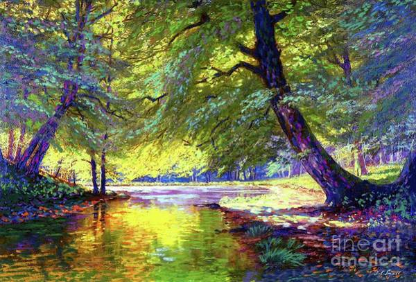 Woods Painting - River Of Gold by Jane Small