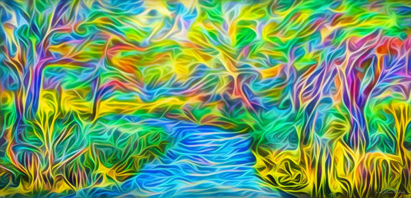 Digital Art - River Of Light by Joel Bruce Wallach