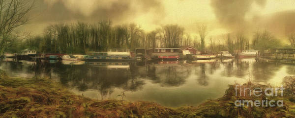 Photograph - River Panorama - Hampton Court by Leigh Kemp