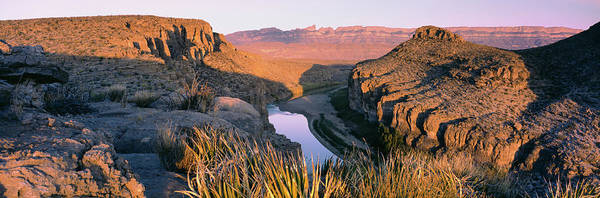 Rio Grande River Photograph - River Passing Through Mountains, Big by Panoramic Images