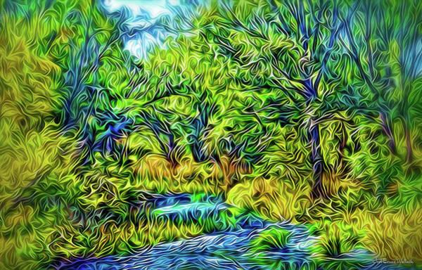 Digital Art - River Rapture Flowing by Joel Bruce Wallach