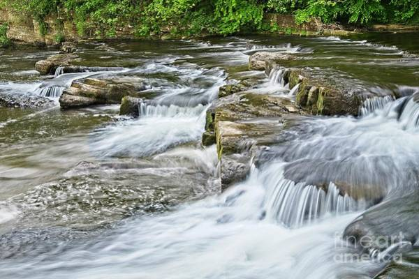 Photograph - River Swale Waterfalls At Richmond, Yorkshire by Martyn Arnold