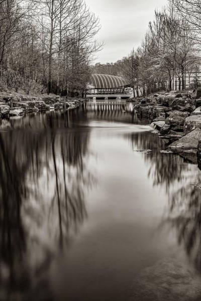 Photograph - River To Crystal Bridges Museum Of American Art - Bentonville Arkansas Sepia by Gregory Ballos