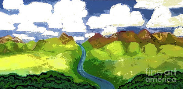 Digital Art - River To Sky by Shelley Myers