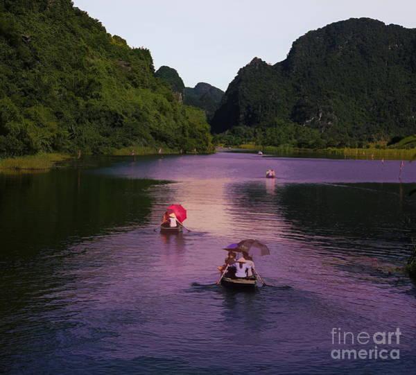 Wall Art - Digital Art - River Tour Tam Coc Vietnam  by Chuck Kuhn