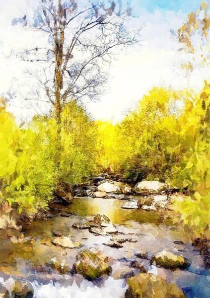 Wall Art - Painting - River Walk by Steve K
