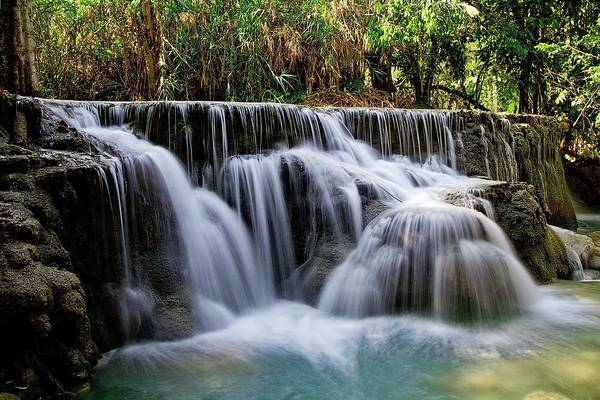 Photograph - River Waterfall by Top Wallpapers