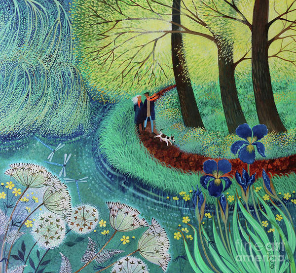 Wall Art - Painting - River Wey Walk by Lisa Graa Jensen