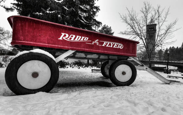 Photograph - Riverfront Park Radio Flyer by Mark Kiver