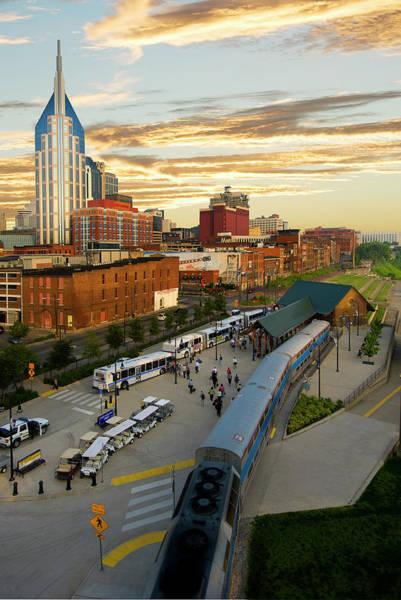 Commuter Rail Wall Art - Photograph - Riverfront Station by Don Klumpp