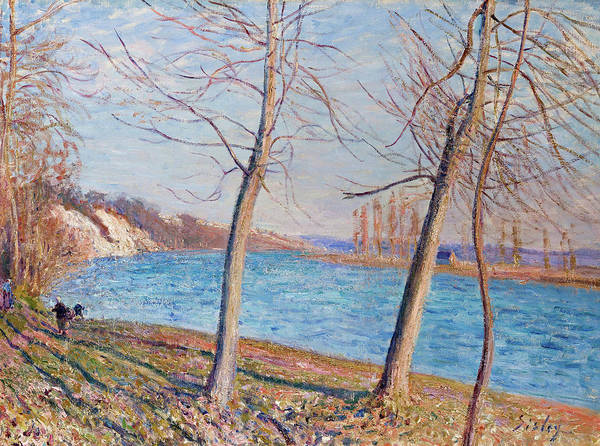 Wall Art - Painting - Riverside In Veneux by Alfred Sisley